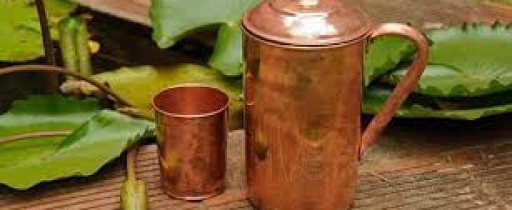 Perchè bere acqua conservata in recipienti di rame fa bene alla salute