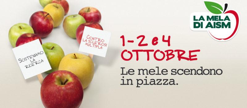 """L'1, il 2 e il 4 ottobre la """"Mela di AISM"""" torna in 5000 piazze italiane per la lotta alla sclerosi multipla"""