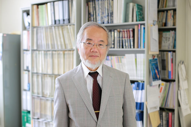 Yoshinori Ohsumi, a professor in Tokyo Institute of Technology is seen at his laboratory office in Yokohama, Japan, June 7, 2013 in this handout released by Tokyo Institute of Technology. To go with NOBEL-PRIZE/MEDICINE   Tokyo Institute of Technology/Handout via REUTERS ATTENTION EDITORS - THIS IMAGE WAS PROVIDED BY A THIRD PARTY. FOR EDITORIAL USE ONLY.     TPX IMAGES OF THE DAY