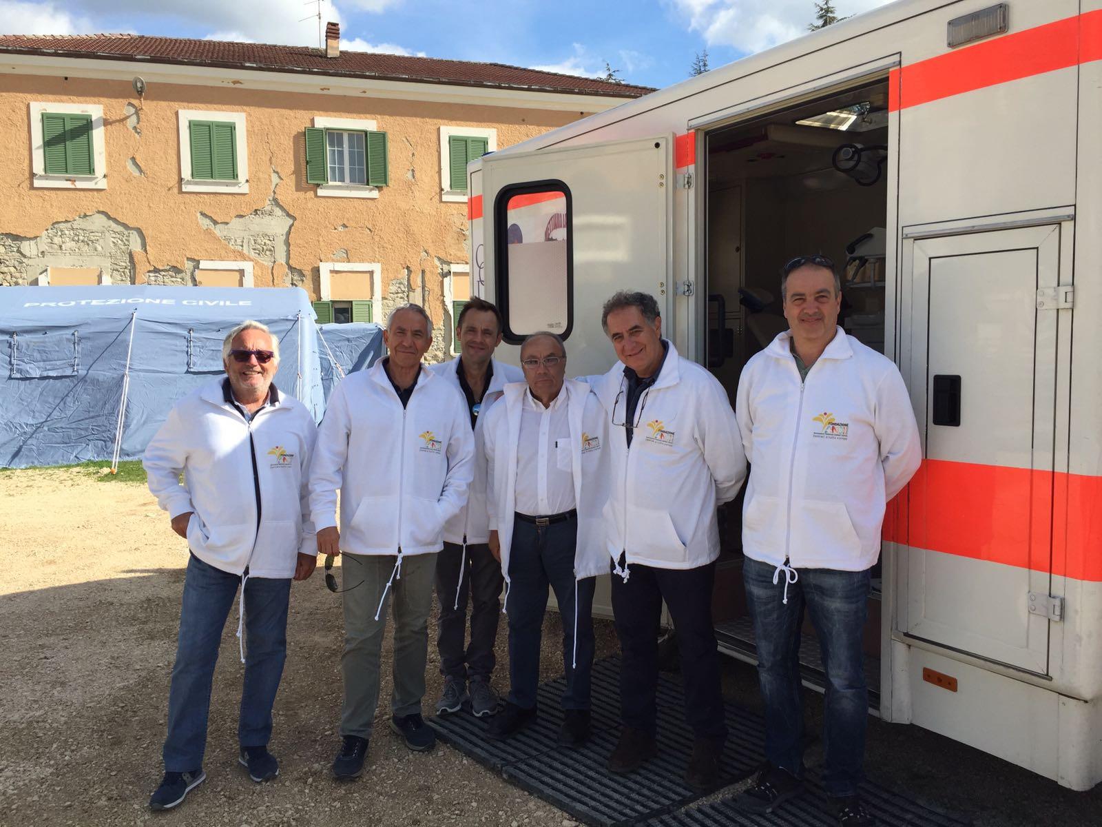 Assistenza odontoiatrica gratuita agli sfollati del terremoto
