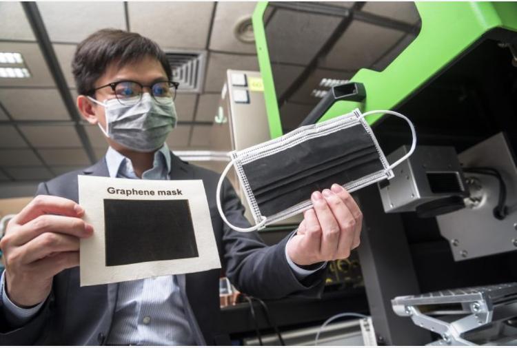 Sviluppata una mascherina in grafene che rende innocuo SARS-CoV-2